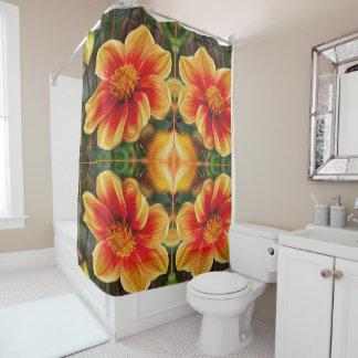 Orange Flower, DeepDream style Shower Curtain