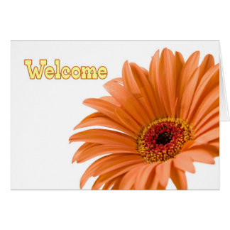 Orange Flower Employee Welcome to the Team Card