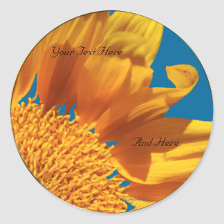 Orange Flower Fall Gerbera Custom Envelope Seals Round Sticker