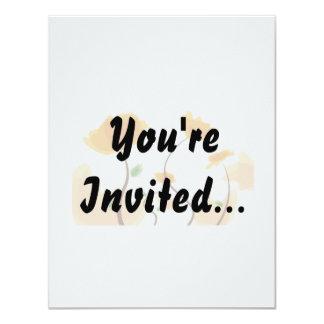 Orange flower graphic eco design.png 11 cm x 14 cm invitation card