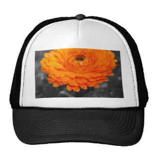 Orange Flower Trucker Hat