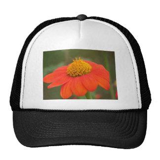 Orange Flower Mesh Hats