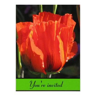 Orange Flower 6.5x8.75 Paper Invitation Card