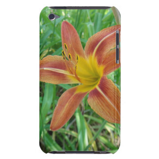 Orange Flower Ipod Case Mate Barely There iPod Touch Cover