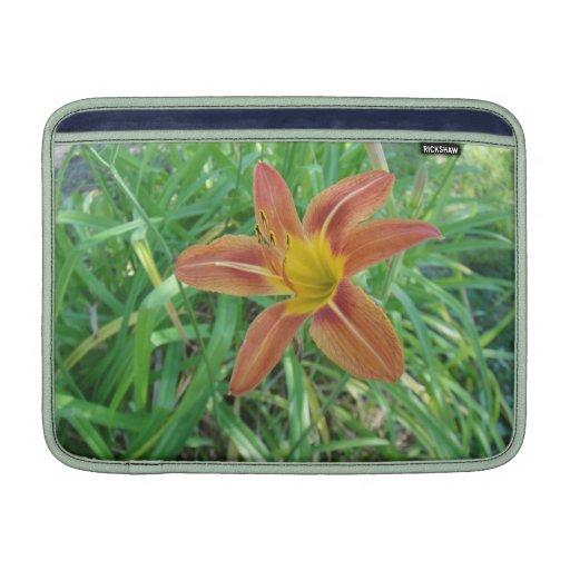 """Orange Flower Mac Book Air 13"""" Sleeve MacBook Sleeves"""