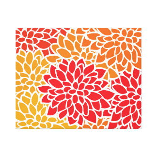 Orange Flower Modern Contemporary Canvas Print