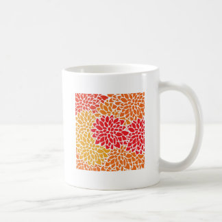 Orange Flower Modern Contemporary Coffee Mug