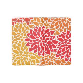 Orange Flower Modern Contemporary Large Moleskine Notebook