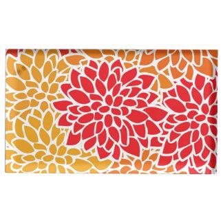 Orange Flower Modern Contemporary Place Card Holder