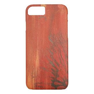Orange Flower Painted Texture iPhone 7 iPhone 7 Case