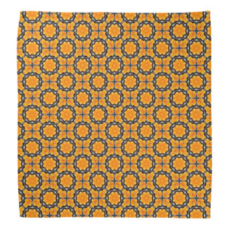 Orange Flower Pattern Bandana