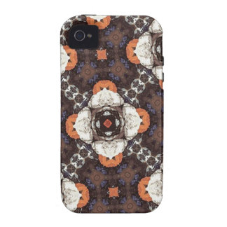 Orange Flower Pattern Case-Mate iPhone 4 Cover