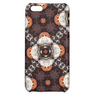 Orange Flower Pattern iPhone 5C Covers