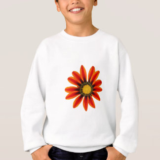 Orange Flower Pattern Sweatshirt