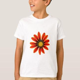 Orange Flower Pattern T-Shirt