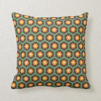 Orange flower pillow