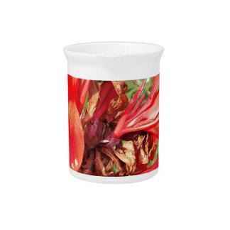 orange flower pitcher