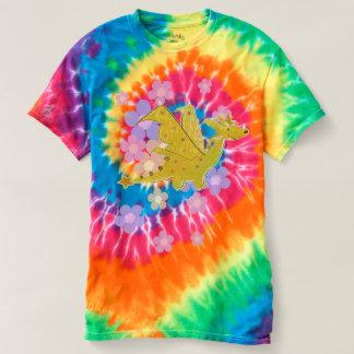 Orange Flower Power Dragon Tye-Dye T-Shirt