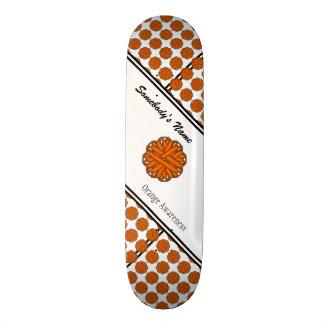 Orange Flower Ribbon 18.1 Cm Old School Skateboard Deck