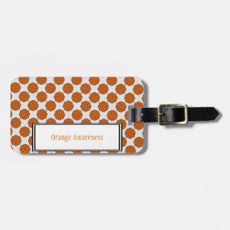 Orange Flower Ribbon Template Bag Tag