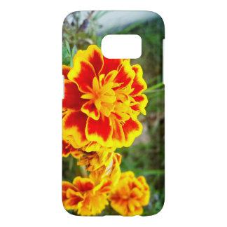 Orange Flower Samsung Galaxy S7 case