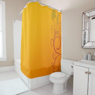 Orange Flower Shower Curtain