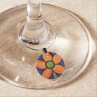 Orange Flower Wine Charm