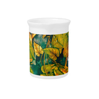 orange flowers beverage pitcher