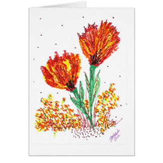 Orange Flowers Card