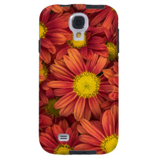 Orange Flowers Galaxy S4 Case