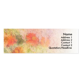 Orange Flowers Impressionist Blend Double-Sided Mini Business Cards (Pack Of 20)