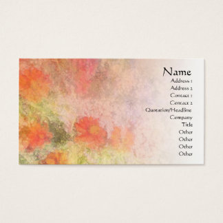 Orange Flowers Impressionist Blend Profile Card