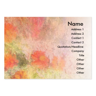 Orange Flowers Impressionist Blend Profile Card Pack Of Chubby Business Cards
