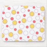 Orange flowers - Mousepad