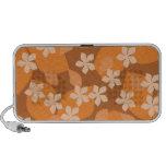 Orange Flowers. Retro Floral Pattern. iPod Speaker