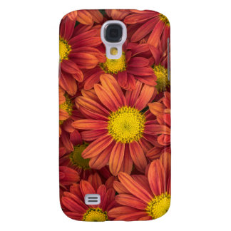 Orange Flowers Samsung Galaxy S4 Covers