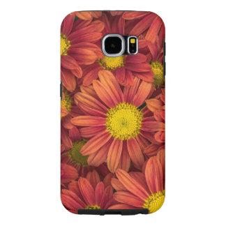 Orange Flowers Samsung Galaxy S6 Cases