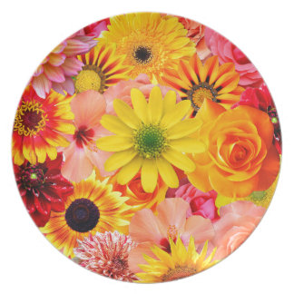 Orange flowers_ Sanchez Glory Plate