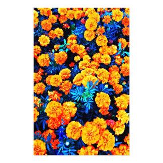 Orange Flowers Stationery Design