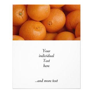 orange personalized flyer