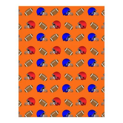 Orange footballs helmets pattern personalized flyer