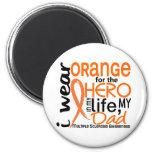 Orange For Hero 2 Dad MS Multiple Sclerosis Refrigerator Magnet