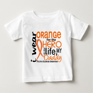 Orange For Hero 2 Daddy MS Multiple Sclerosis Baby T-Shirt