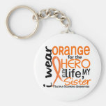 Orange For Hero 2 Sister MS Multiple Sclerosis Keychains