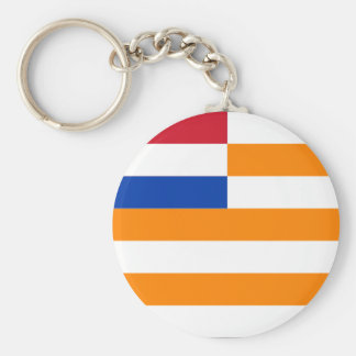 Orange Free State Basic Round Button Key Ring