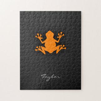 Orange Frog Jigsaw Puzzle