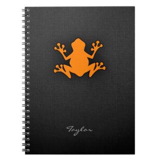 Orange Frog Notebook