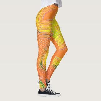 Orange Frosting Leggings