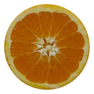 Orange Fruit 13 Cm X 13 Cm Square Invitation Card