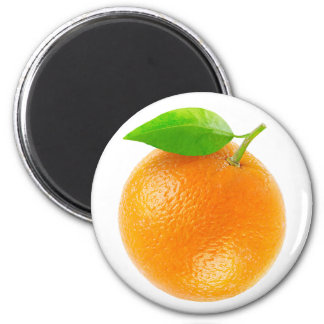 Orange fruit 6 cm round magnet